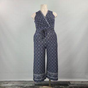 Laura Navy Blue Jumpsuit Size 14